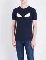 Fendi Bug Eye-appliquéd cotton-jersey T-shirt