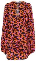 Magda Butrym Udine Long Sleeve V-Neck Mini Floral Dress