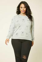 Forever 21 Plus Size Graphic Dog Sweatshirt