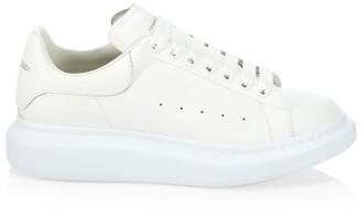 Alexander McQueen Oversized Leather Flatform Sneakers