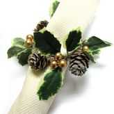 Excell Sparkling Pinecones Napkin Rings (Set of 4)