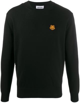 Kenzo Tiger motif patch jumper