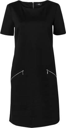 Wallis **TALL Black Pocket Zip Shift Dress