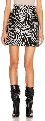 Proenza Schouler Short A-Line Skirt in Black & White | FWRD