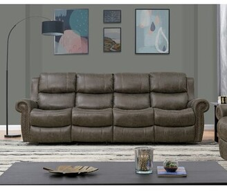 Canora Grey 4 Seat Rolled Arm Wall Hugger Recliner Sofa Canora Grey