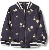 Floral satin flight jacket