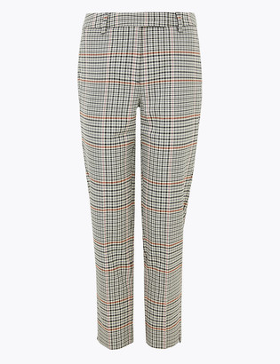 Marks and Spencer PETITE Mia Slim Checked Trousers