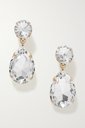 Roxanne Assoulin Hip-hop But Not Gold-tone Swarovski Crystal Clip Earrings