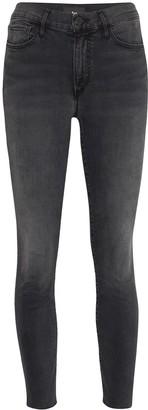3x1 Cropped Raw-Hem Skinny Jeans
