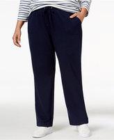 Karen Scott Plus Size Drawstring Lounge Pants, Only at Macy's