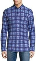 Stone Rose Men's Plaid Cotton Button-Down Shirt