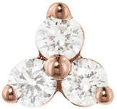 Maria Tash 6.5mm Large Three Diamond Trinity Thread Through Single Earring - Rose Gold