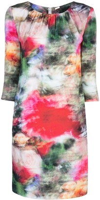 Adam Lippes Floral Print Fitted Dress