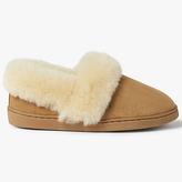 John Lewis Sheepskin Comfort Cuff Slippers, Chestnut