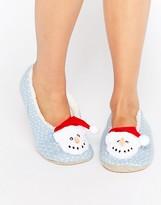 Asos NUTMEG Holidays Snowman Slippers