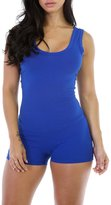 Ashmaq Women's Sexy Fitted Sport Workout Stretch Short Pant Rompers Jumpsuits