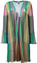 M Missoni long metallic knit stripe cardigan - women - Polyamide/Viscose/metal - 38