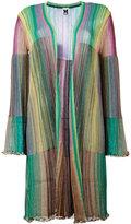 M Missoni long metallic knit stripe cardigan - women - Viscose/Polyamide/metal - 38