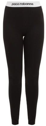 Paco Rabanne Logo-jacquard Leggings - Womens - Black