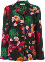 Valentino tropical print pyjama top