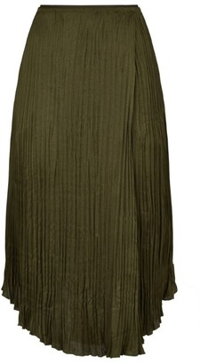 Vince Pleated Midi Skirt