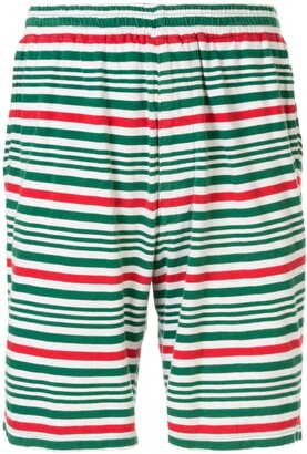 Undercover Elasticated Waist Striped Shorts