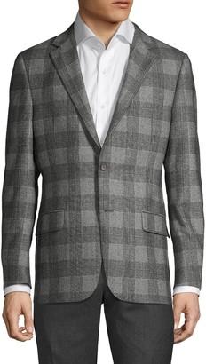 Hickey Freeman Milburn II Plaid Wool Jacket