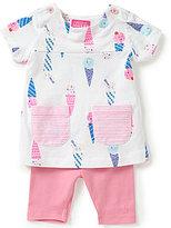 Joules Baby Girls Newborn-12 Months Ice Cream Top & Solid Leggings Set