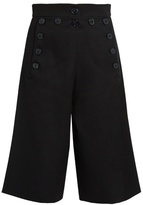 Chloé Long-length wool and cotton-blend shorts