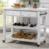 One Allium Way Delong Kitchen Cart One Allium Way Color: White wash