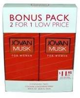 Jovan MUSK FOR WOMEN COLOGNE CONCENTRATE SPRAY by COTY - 2 PACK .875 OZ. EACH