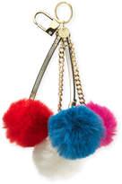 Neiman Marcus Quad Pompom Keychain