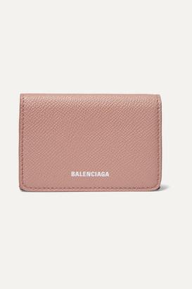 Balenciaga Ville Textured-leather Wallet - Beige
