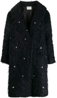 Forte Forte crystal embellished single-breasted coat