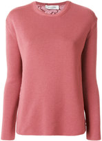 Valentino lace back sweater - women - Cotton/Polyamide/Viscose/Virgin Wool - S