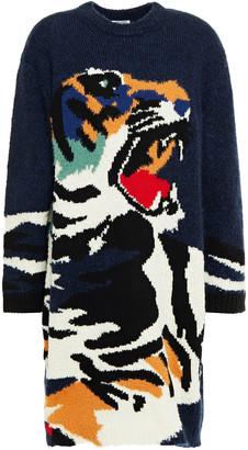 Kenzo Brushed Intarsia-knit Mini Dress