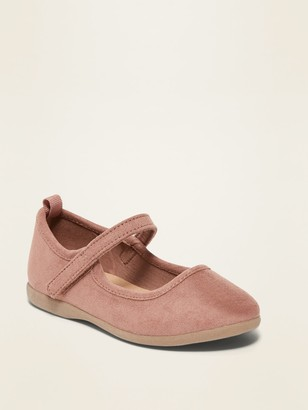 Old Navy Faux-Suede Mary-Jane Flats for Toddler Girls