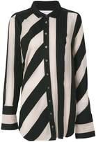 Marques Almeida Marques'almeida striped raw-edged shirt