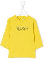 Boss Kids logo print long sleeve T-shirt