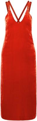 Dion Lee Grosgrain-trimmed Velvet Midi Dress