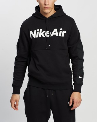 Nike Men's Black Hoodies - NSW Air Hoodie - Size M at The Iconic