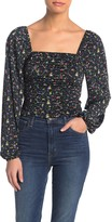 Abound Ruched Long Sleeve Top