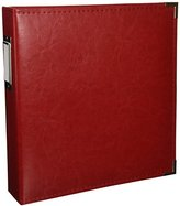We R Memory Keepers Classic Leather 3-Ring Album - 8.5 x 11 inch, Real Red