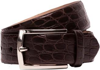 Hackett Crocodile Skin Leather Belt