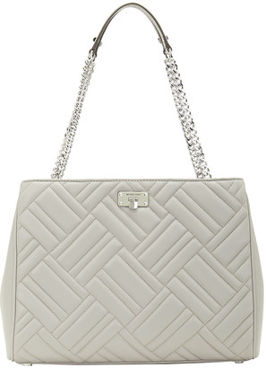 Michael Kors Women's Totebags PEARL - Pearl Gray Peyton Quilted Leather Tote
