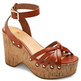 Mossimo Women's Erie Wood Flatform Wedge Sandals