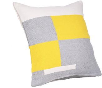 Tiipoi Jamakhan Stripe Handwoven Square Cushion, Grey