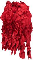 Marques Almeida Marques' Almeida Frayed open-back ruffled silk-satin top
