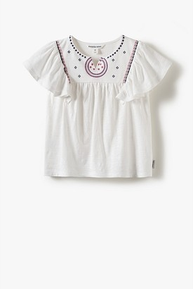 Country Road Organically Grown Cotton Embroidered Yoke T-Shirt