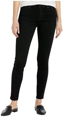 Liverpool Abby Ankle Skinny Perfect Black Denim in Black Rinse (Black Rinse) Women's Jeans